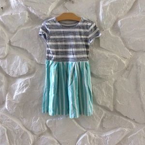 Gap Striped Gray Blue Dress XS 4-5